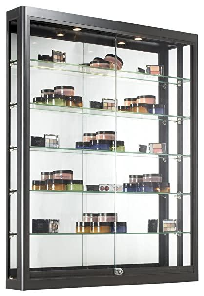 Amazoncom Wall Mounted Display Case With Height Adjustable Glass