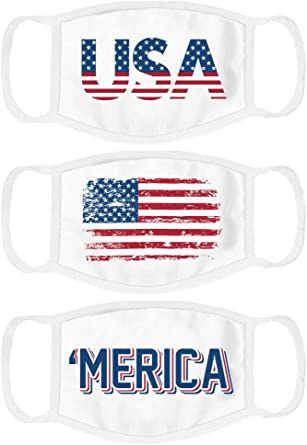 Red Trump 2020 Patriotic Reusable Washable 2 Layer Cotton America face Cover