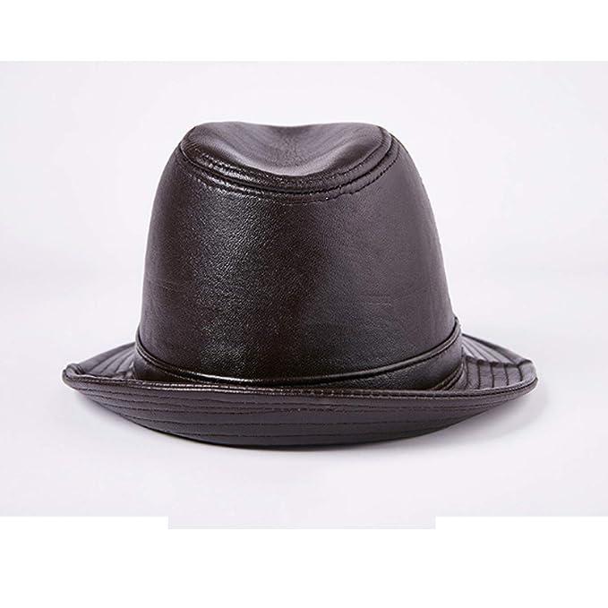 GHC gorras y sombreros Sombrero de piel de vaca real de cuero ...