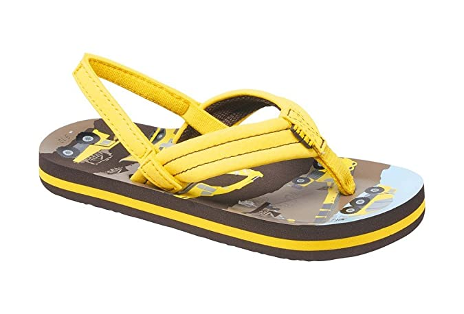 a01c04eaf9b4 Reef Ahi Yellow Trucks Flip Flop Sandals Junior Boys UK Size 8 - 9   Amazon.co.uk  Shoes   Bags