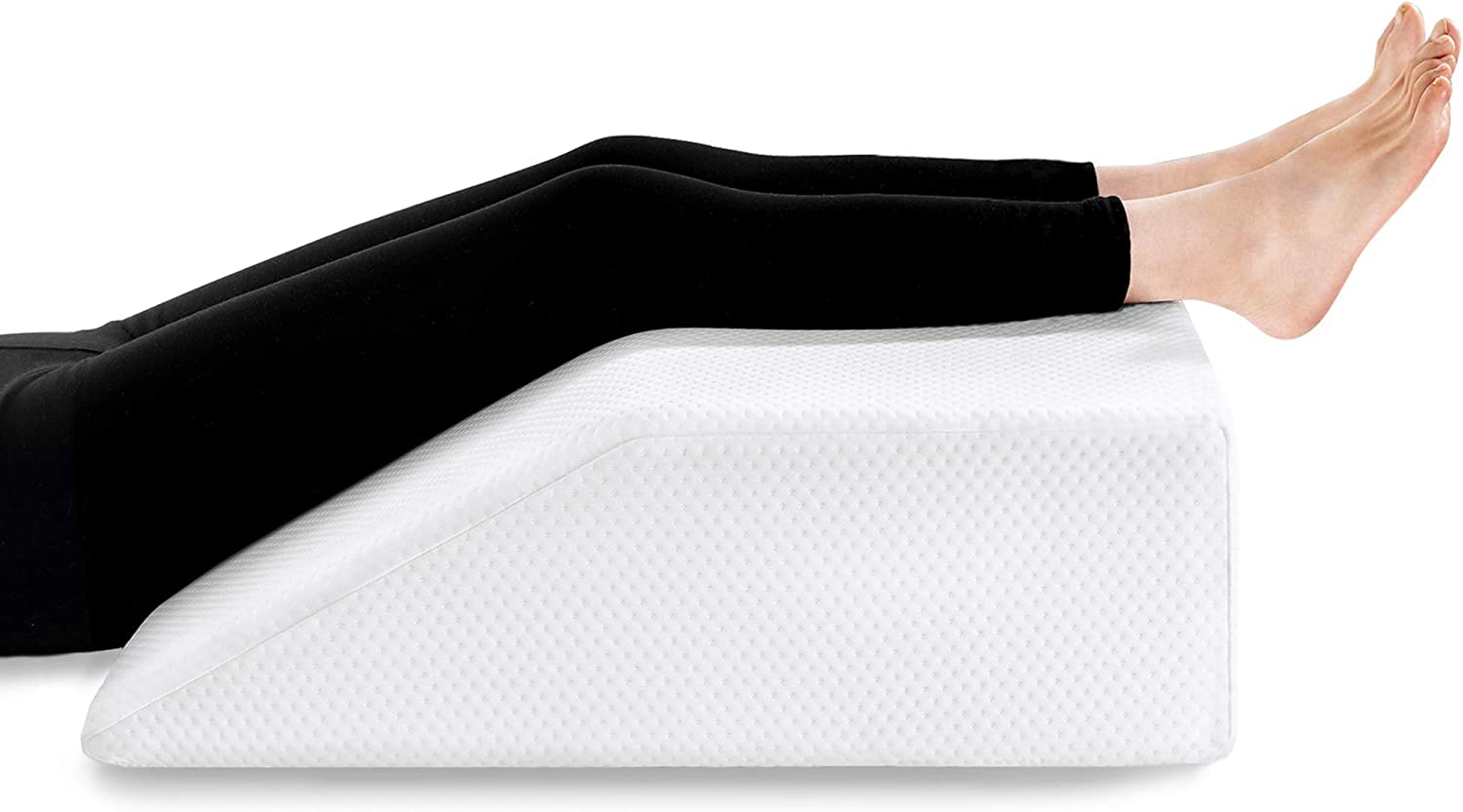 Leg Elevation Pillow with Cooling Gel Memory Foam Top, Wedge Pillow for Back and Legs Support, to Solve Back& Leg &Joint Pain, Acid Reflux, Heartburn, Snoring,Pregnancy