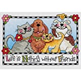 Dimensions Needlecrafts Stamped Cross Stitch, Life is Nothing without Friends