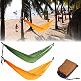 Specification:Material: 190T Polyester TaffetaColor: Orange, GreenSize: 2700mm*1500mm (Approx.)Weight capacity: More than 220kgFeatures:Durable and portable, lightweight and convenient for use.Easy to be cleaned and quick drying.Can accommodate up to...