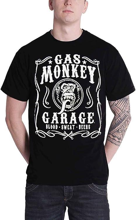 Gas Monkey Garage T Shirt Herren Filigree Label Kustom Builds Nue Offiziell Bekleidung