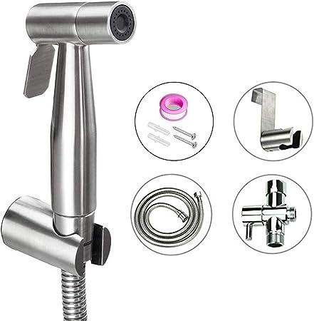 Homy Hand Held Bidet Sprayer For Bathroom Toilet Premium Brushed