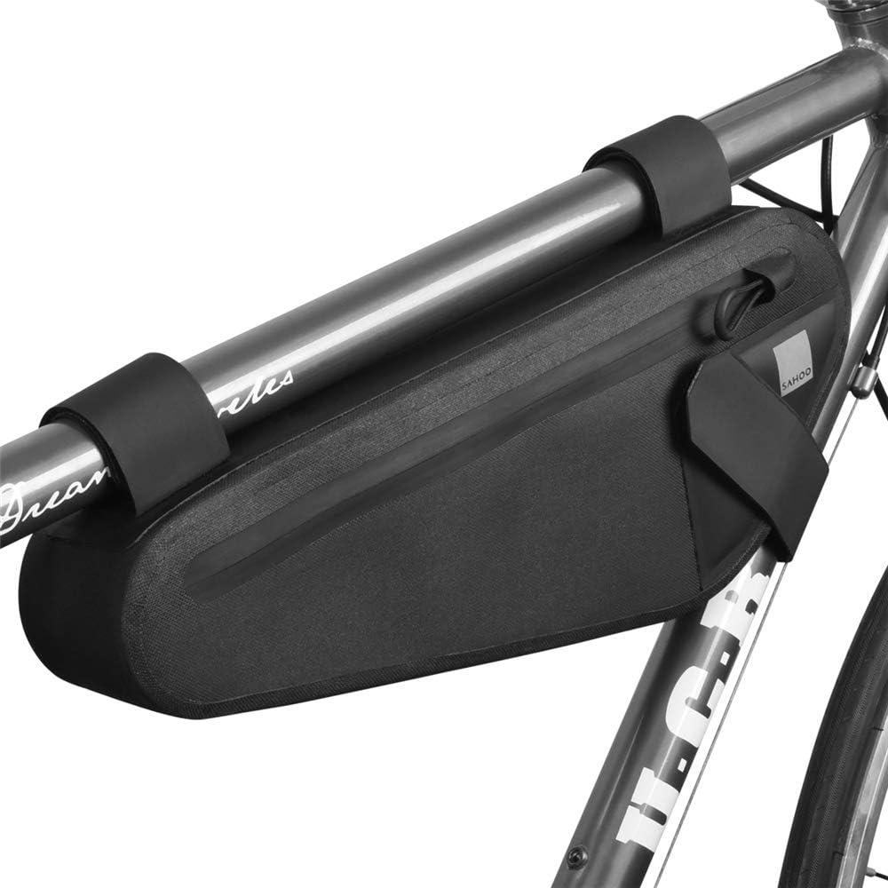 VANURX 2L Marco De La Bici del Bolso, Impermeable MTB Bici del Camino del Bolso del Triángulo, El Ciclismo De Tubo Bolsas con Reflectante: Amazon.es: Hogar