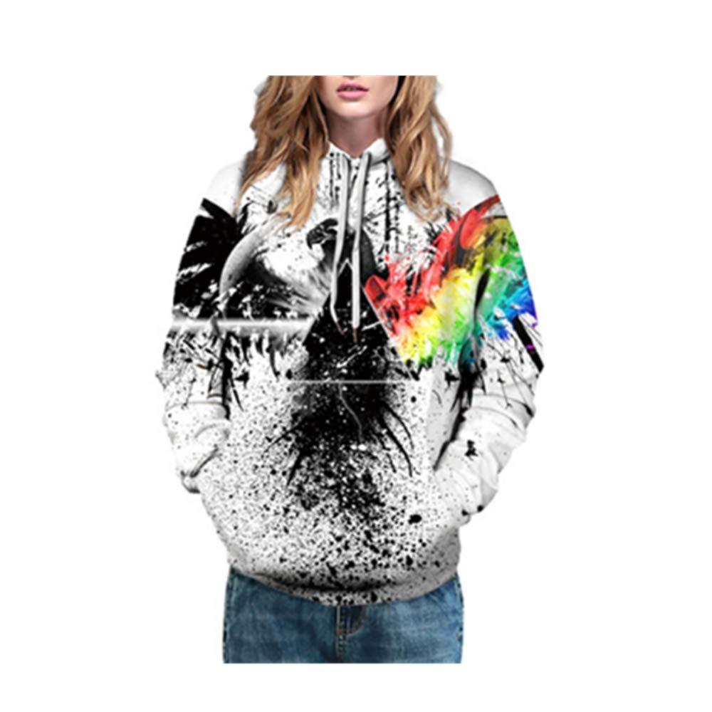 LIJIAYANG Imprimir suéter de Pareja Informal Suelto de Gran tamaño ...