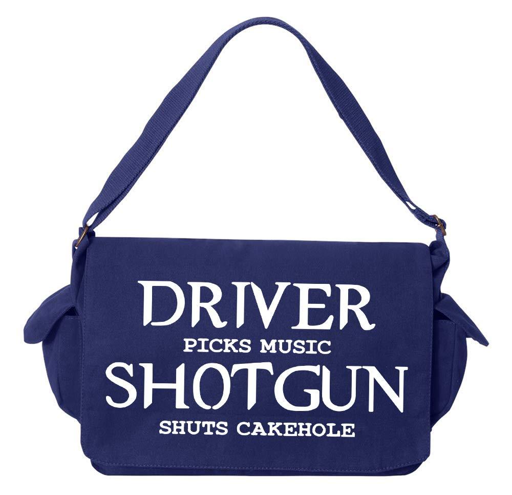 Tenacitee Shotgun shuts hit cakehole Red Brushed Canvas Messenger Bag