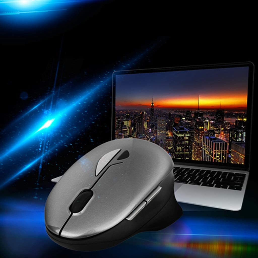 USB Receiver for PC Gaming Laptop,Blue BINGFEI Wireless 2.4GHz Mouse 6D Bluetooth Ergonomic Mice 1200DPI Optical Ergonomic Mice