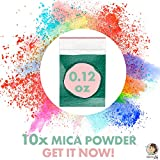 Two-in-one Mica Powders for Bath Bombs, Slime and Crafts by Creative Lily – Scented Powdered Pigments –– Set of 10 Unique Fragrances and Colors – for Kids and Adults – Use with Bath Bomb Molds