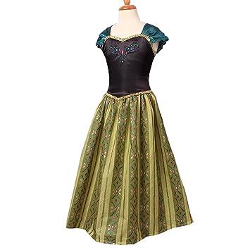 nihiug EIS Und Schnee Prinzessin Anna Kleid Disney Kleid