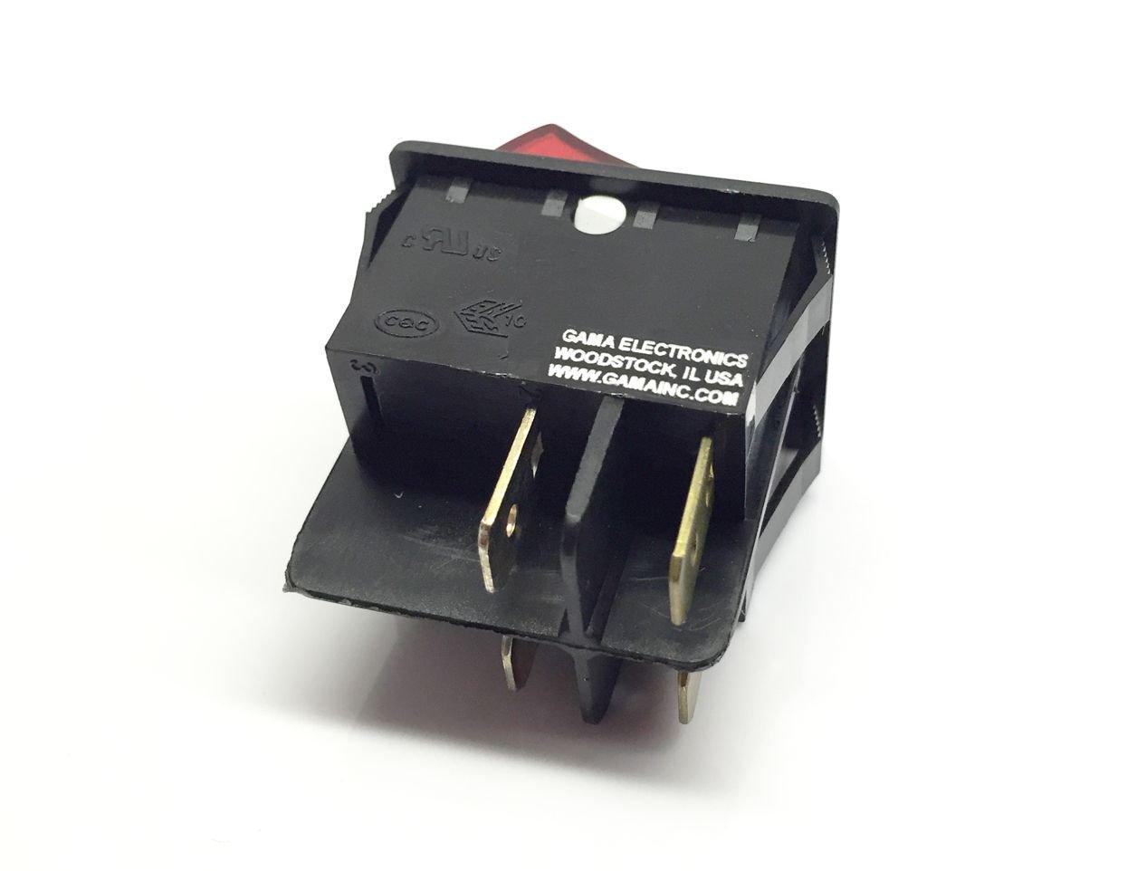Amazon.com: 20 Amp Double Pole On-Off Illuminated Rocker Switch 120 ...