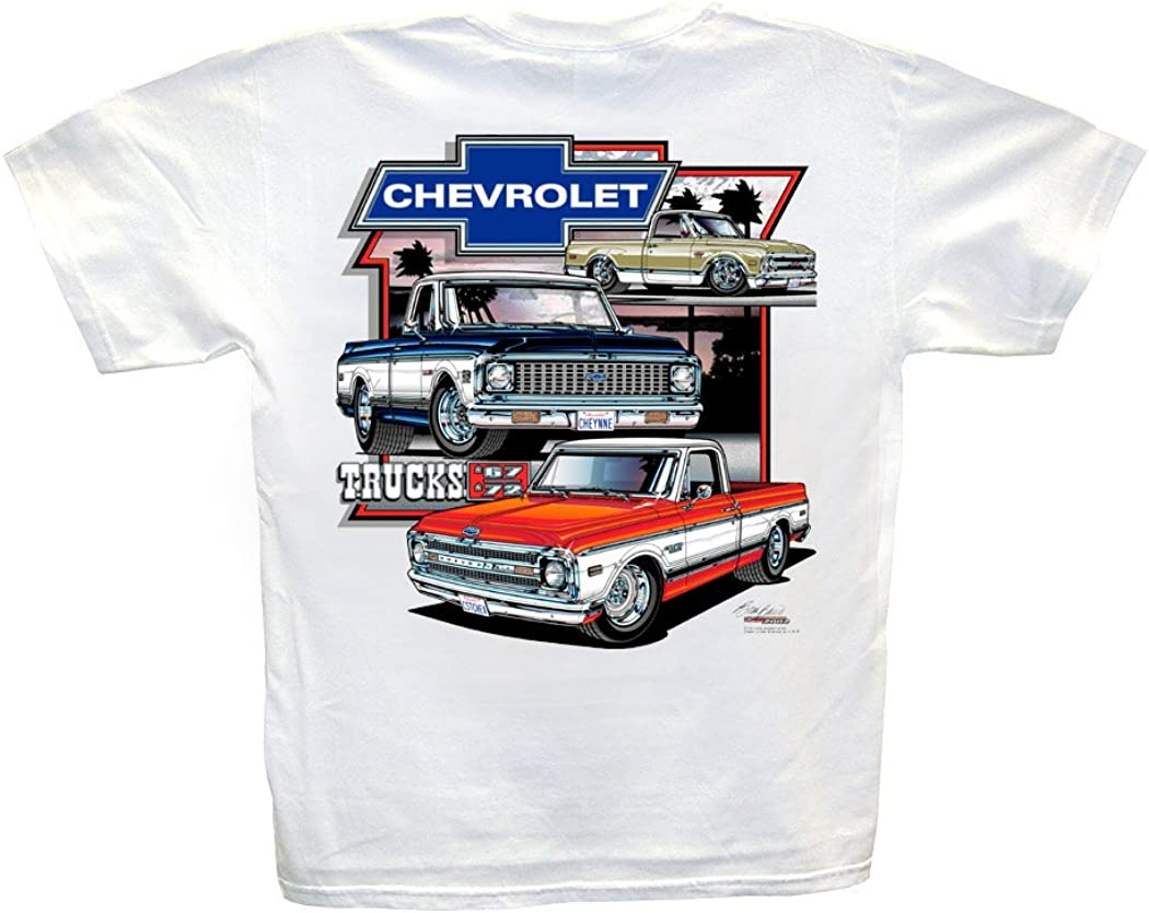1969 Orange Chevy Pickup Truck a Custom Hot Rod Garage T-Shirt 68 Muscle Car Tee