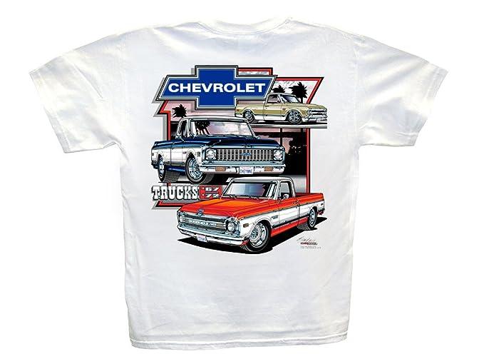 Chevy T Shirts >> Hot Shirts Chevrolet Trucks 1967 1972 White T Shirt Cheyenne Super C K C 10 Chevy