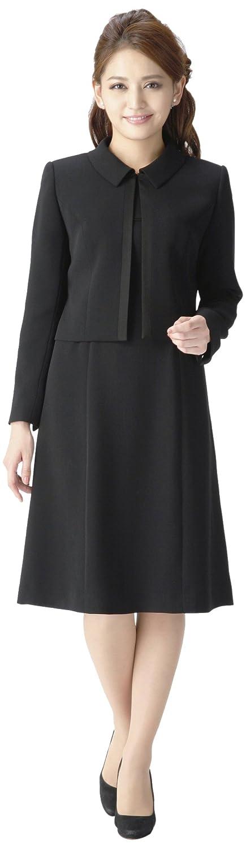 (マーガレット)marguerite m452 スーツ レディース ブラックフォーマル 喪服 アンサンブル 礼服 B01N3XUWS4 【着丈短め】プチサイズ7号
