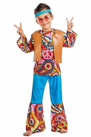 Disfraz Hippie Chaleco TALLA 10-12: Amazon.es: Juguetes y juegos