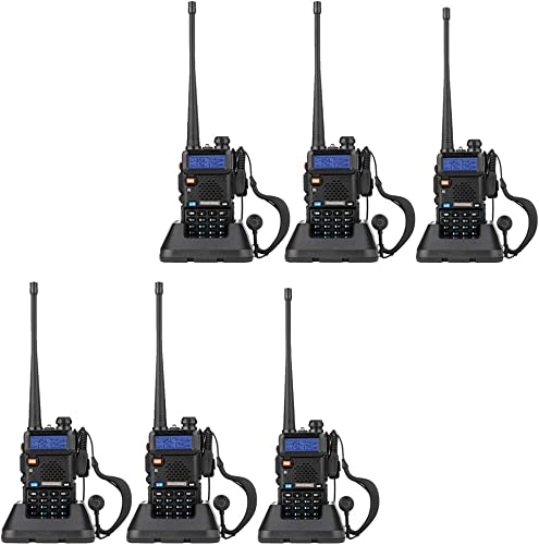 BaoFeng UV-5R Dual Band Walkie Talkie VHF UHF Two Way Radio 6 Pack