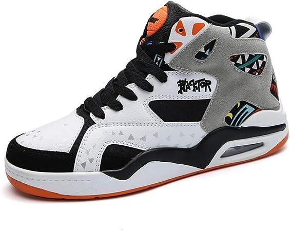 FJJLOVE Zapatillas de Baloncesto para Hombre, amortiguación neumática Botas de Baloncesto Amortiguadora Zapatillas de Baloncesto Ligeras de precisión de Aire Botas de Correr al Aire Libre,A,38: Amazon.es: Hogar