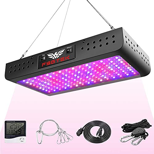 LED Grow Lights 1000W 2×2 ft Flower with Samsung LM301B Diodes Dimmable Full Spectrum UV IR White Lamps for Indoor Plants Seeding 3×3 ft Veg and Bloom Hydroponic Great Heat Sink Growing Lamp ZENEE