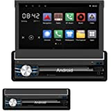 Yody Single Din Android 6.0 In Dash Car Stereo with Bluetooth 7 Inch HD Touch Screen,Support WiFi,GPS/Navigation,Mirror Link,USB/SD/AUX/AM/FM Car Radio,Backup Camera,Microphone,Wireless Remote(No dvd)