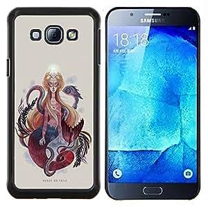 """Be-Star Único Patrón Plástico Duro Fundas Cover Cubre Hard Case Cover Para Samsung Galaxy A8 / SM-A800 ( Pintura Mujer Serpiente Serpiente Espiritualidad Arte"""" )"""