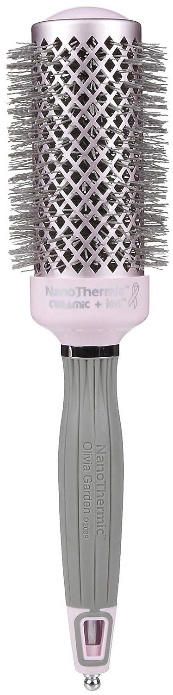 "Olivia Garden Breast Cancer Awareness NanoThermic Ceramic + Ion Brush, 1 3/4"""