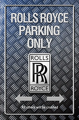 Schatzmix Rolls Royce Parking only Metallic blechschild