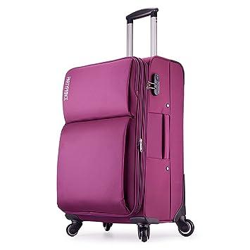 Equipaje de cabina blanda viaje Nailon ligera con 4 ruedas ABS+PC purpurina 363 púrpura Partyprince: Amazon.es: Equipaje