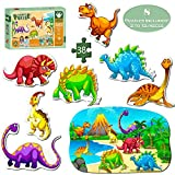 Puzzles for 3 Year Old, Dinosaur Puzzle Toys for Age 3 Years Old Kids, Boys, Girls Toddlers and Children, Learning and Educational Toys, Top Birthday, Bath Toys for Baby.