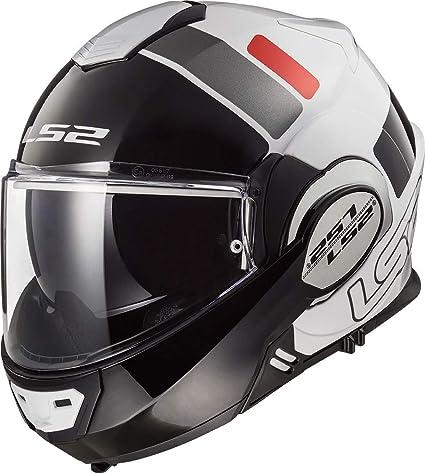 LS2 Casco de moto FF399 VALIANT PROX blanco negro rojo blanco/negro/rojo, M