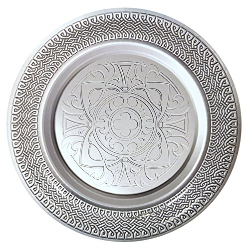 Goth Feast Silver Medieval Dinner Plates (8) (Medieval Party Decorations)