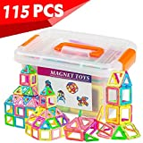 Magnetic Blocks Toys Educational Building Tiles Blocks Stack Toys for Kids 112 Pieces