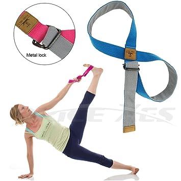 Número 8 Yoga correas para estirar - Longitud ajustable ...
