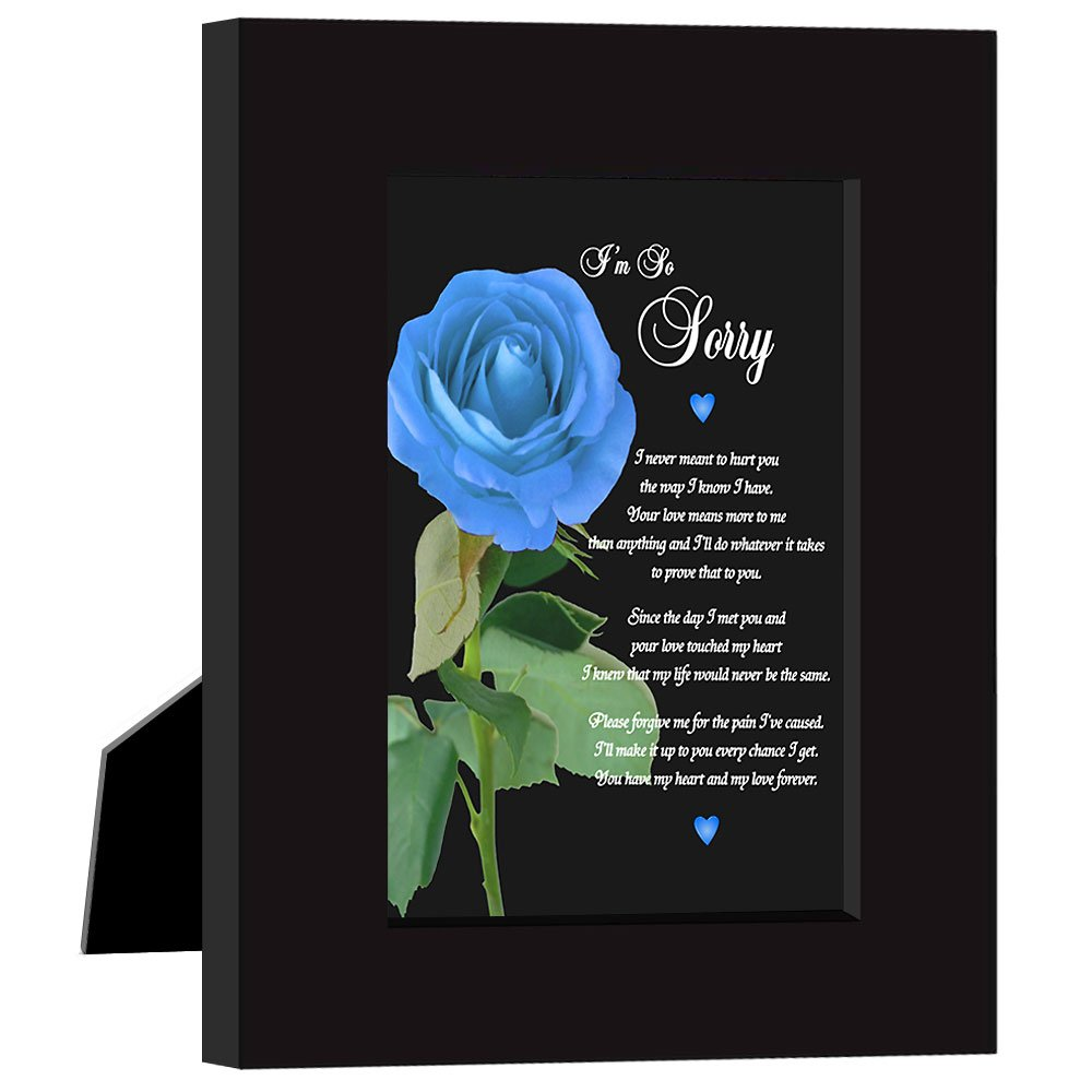 Sincere Im So Sorry Greeting Card in 5x7 Modern Black Frame Classy Way to Ask for Forgiveness