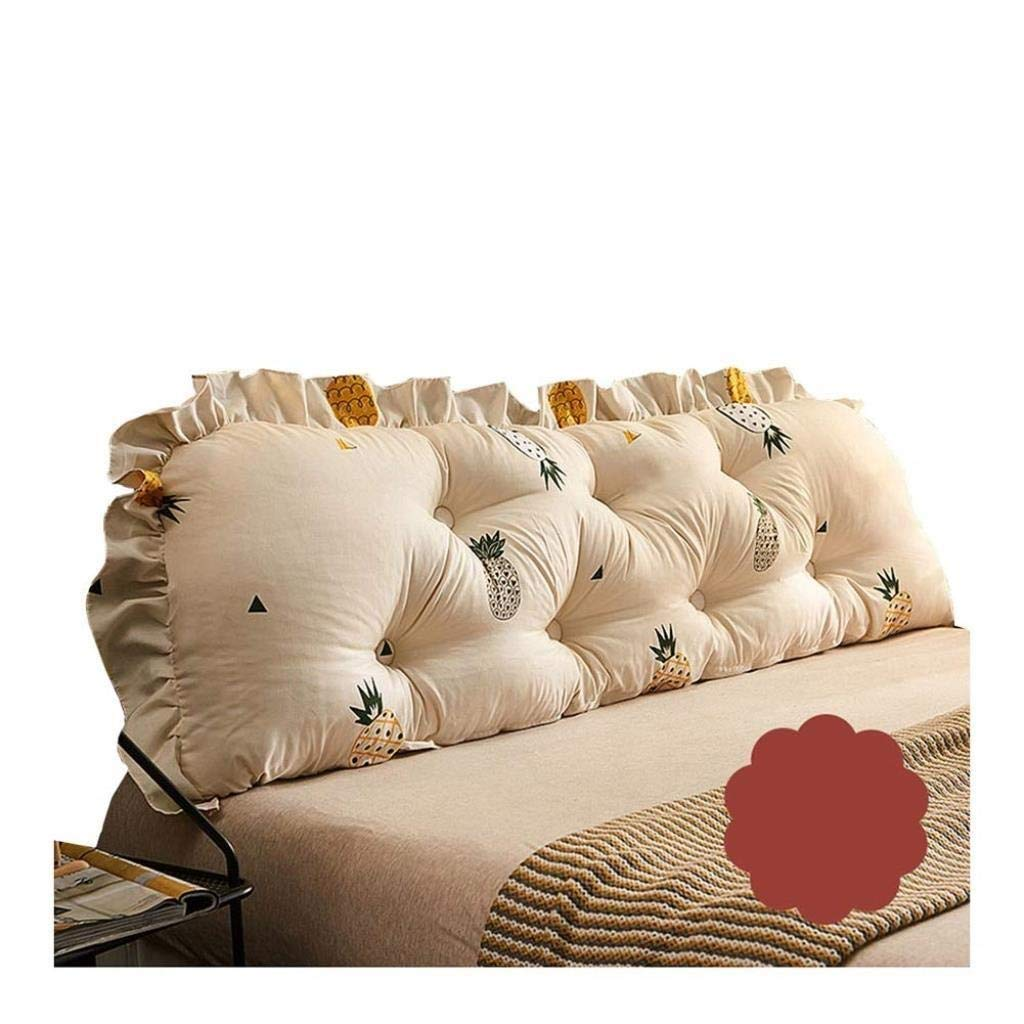 YJLGRYF Headboard Cushion Princess Wind Pillow Bed Head Backrest Soft Bag Removable Washable Waist Cushion Sofa Long Pillow Home Bedroom Bed Back Lumbar pad for Office Bed sof