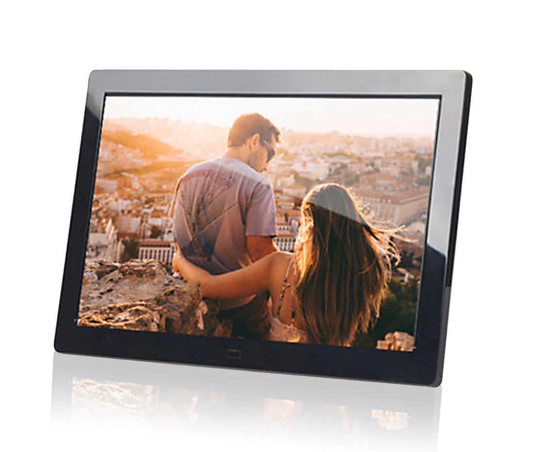 PF8050IPS 8inch IPS panel Digital Photo Frame High resolution - Photo, music, video, clock, calendar functions (Black)