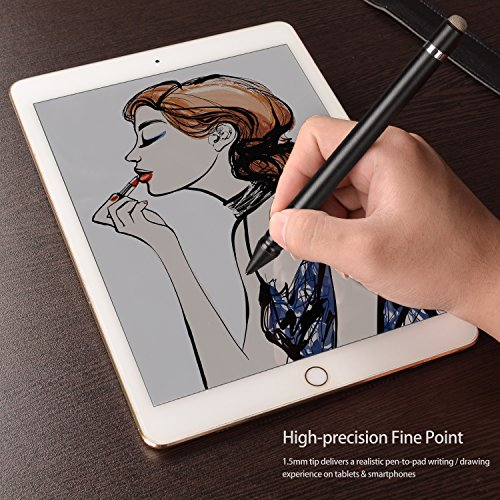 Qoosea [2 in 1] Stylus Pen for Touch Screen Active Capacitive Rechargeable Digital Fine Point Stylus Pen For iPad/iPhone / Samsung Galaxy Phone/Kindle / Fire HD & Android Tablets by Qoosea (Image #1)