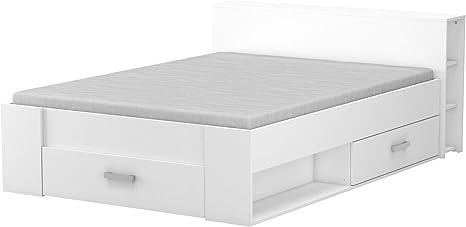 DEMEYERE Cama 3 cajones cabecero Color Blanco Estilo Moderno ...