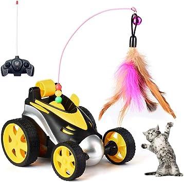 Jewaytec Fernbedienung Katze Feder Spielzeug, interaktive