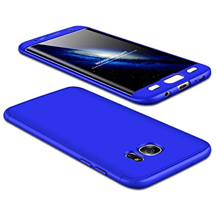 JMGoodstore Funda Galaxy S7 Edge,Carcasa Samsung S7 Edge,Funda 360 Grados Integral para Ambas Caras+Cristal Templado,[ 360°] 3 in 1 Slim Fit ...