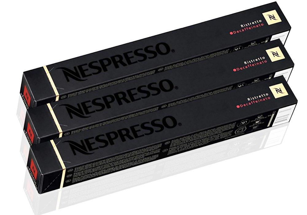 Nespresso OriginalLine Espresso Ristretto Decaffeinato, 30 capsules - ''NOT Compatible with VERTUOLINE machines''