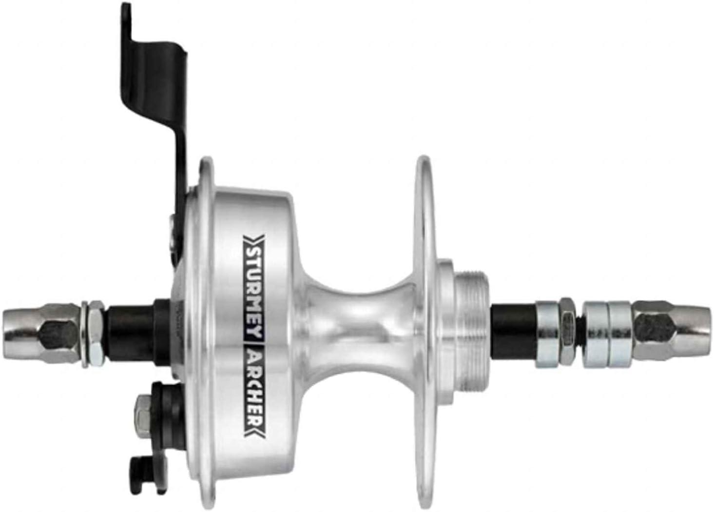 Sturmey-Archer X-Rd 7-Sp Freewheel Drum Brake Hub 36 Hole Silver