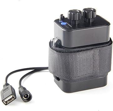 TOOGOO Caja de la bateria 18650 de 6 Secciones Paquete de baterias 18650 5VUSB/8.4VDC Caja de bateria Impermeable 18650 de Interfaz Dual: Amazon.es: Electrónica