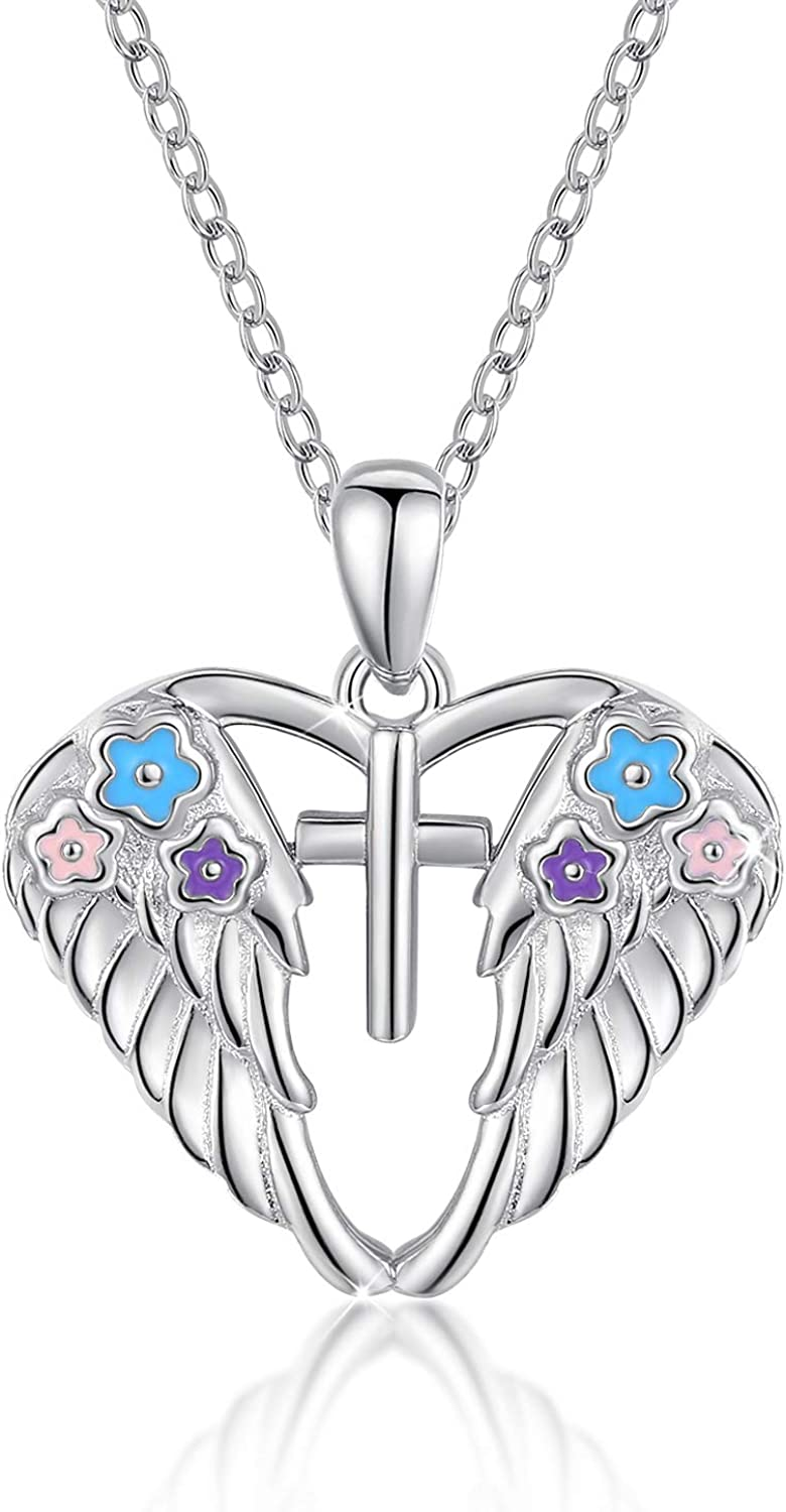 Heavenly Angel necklace Angel Wings Necklace Angel Wings Necklace With Backing Card Guardian Angel Necklace Rose Gold Pendant