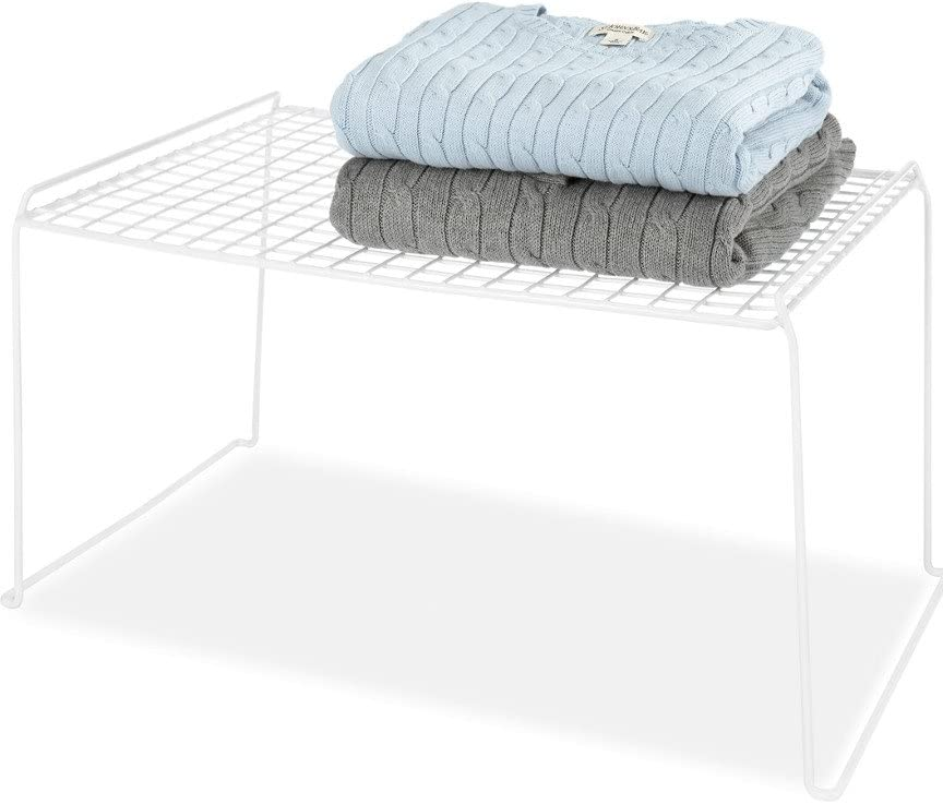Whitmor White Wire Stacking Shelf Large