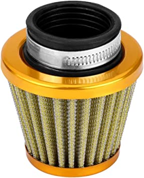 Air Filter Car-38mm Air Filter Intake Induction Kit Compatible with Off-road Motorcycle ATV Quad Dirt Pit Bike Gold Color : Black