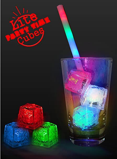 amazon com light up party reusable rainbow ice cubes 1 cube