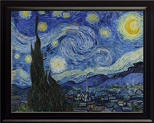 The Starry Night By Vincent Van Gogh 8x10 Framed Reprint