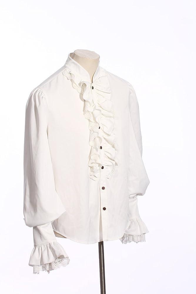 devil shackles Camisa blanca para hombre Steampunk Retro con cuello alto Camisa gótica victoriana para hombre Aristocrat Regency (M): Amazon.es: Ropa y accesorios