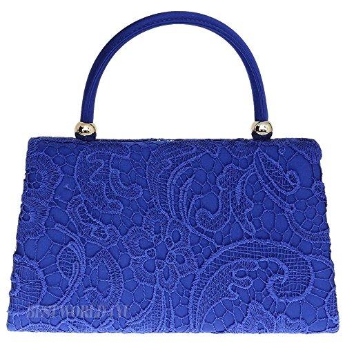Wocharm (TM) Womenu0026#39;s Satin Floral Lace Clutch Bag Evening Bridal Party Wedding Fashion Prom Bag ...